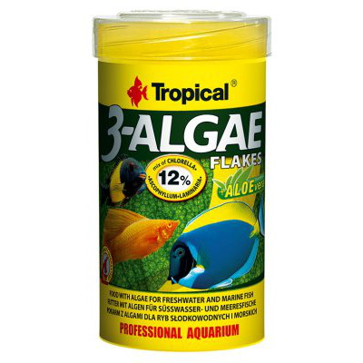 TROPICAL 3 ALGAE FLAKES 250ML/50GR