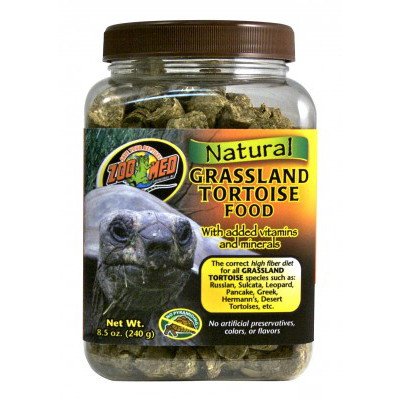 Zoomed Natural Grassland Tortoise Food 425g
